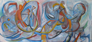 """Art Gallery - Artist: Michael Angelides. """"Surfing Under the Venice Pier"""""""
