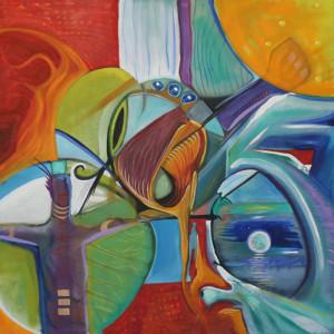 "Art Gallery - Artist: Michael Angelides. ""Free Fall."""