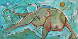"Art Gallery - Artist: Michael Angelides. ""Himalayan Hallucination"""