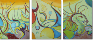 """The Art Gallery - Artist: Fawnette. Triptych. """"In the Light of the Seahorse"""""""