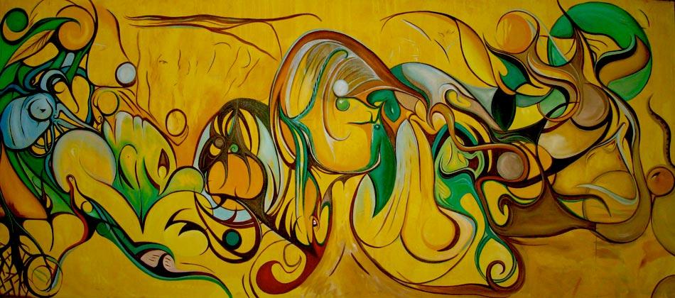 "The Art Gallery - Artist: Fawnette. ""Safari Sunset"""