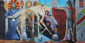 """Art Gallery: Artist: Michael Angelides. """"The Invention of the Angels"""""""