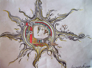 "The Art Gallery - Artist: Fawnette. ""The Sun God"""